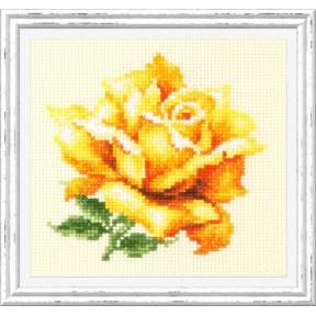"""Набор для вышивки крестом Чудесная игла """"Жёлтая роза"""" 150-005"""