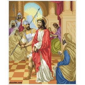 """Набор для вышивания бисером БС Солес """"Иисуса приговаривают к"""