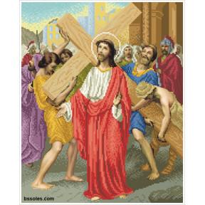"""Набор для вышивания бисером БС Солес """"Иисус берет на себя"""