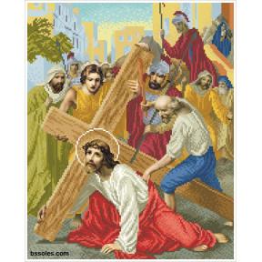 """Набор для вышивания бисером БС Солес """"Иисус падает первый раз"""