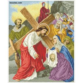 """Набор для вышивания бисером БС Солес """"Вероника вытирает Иисусу"""
