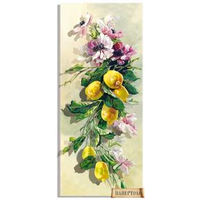 """Картина из бумаги Папертоль """"Анемоны и лимоны"""" РТ150199 фото"""