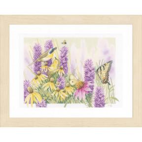 """Набор для вышивания Lanarte Butterfly Bush and Echinacea """"Бабочка и эхинацея"""" PN-0147541"""