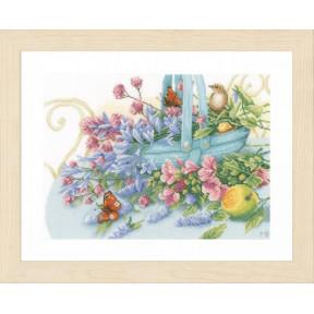 "Набор для вышивания Lanarte Bouquet with peacock butterfly ""Букет с бабочкой"" PN-0151015"
