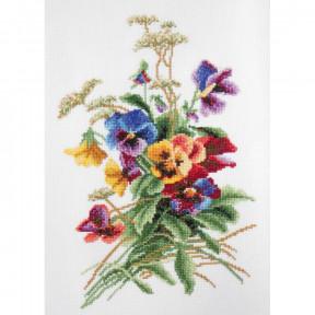 """Набор для вышивки крестом Повитруля """"Летние цветы"""" P6-033 фото"""