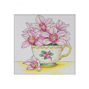 Набор для вышивки крестом Dantel Чашка с орхидеями 039.1 d фото