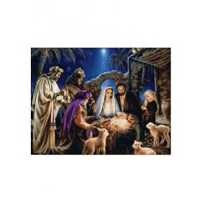 """Набор для вышивки крестиком Dantel """"Рождение Иисуса"""" 100 фото"""