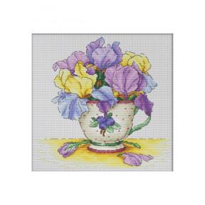 Набор для вышивки крестом Dantel Чашка с орхидеями 039.1 d