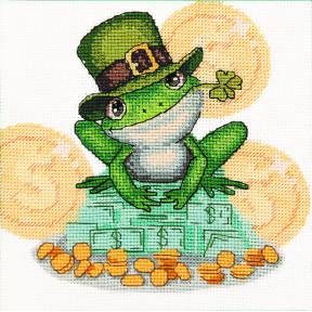 Набор для вышивания крестом  Чарівна Мить Денежная жаба ВТ-242