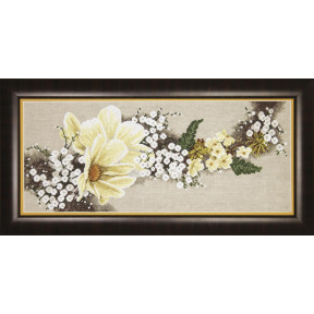 Набор для вышивки  крестом Чарівна Мить Белые цветы М-301