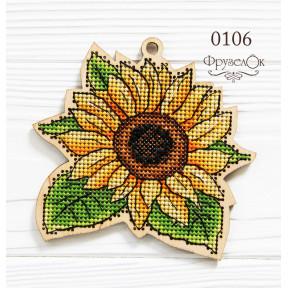 """Набор для вышивки крестом на деревянной основе ФрузелОк """"Соняшник"""" 0106"""