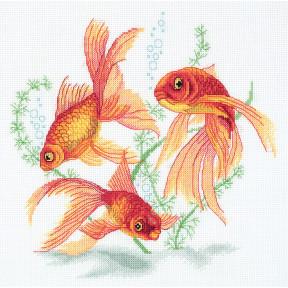 Набор для вышивки крестом Panna Р-7141 Золотые рыбки