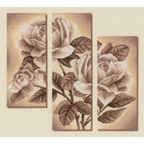Набор для вышивки крестом Panna С-1894 Триптих с розами