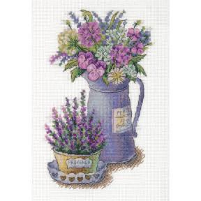 Набор для вышивки крестом Panna C-7125 Цветы Прованса