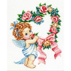 Набор для вышивки крестом Чудесная игла С днем всех влюбленных! 35-15