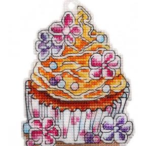 Набор для вышивки крестом Alisena Пирожное – Мафин 8011