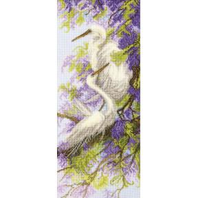 Набор для вышивки  крестом Чарівна Мить Цапли и глициния М-349