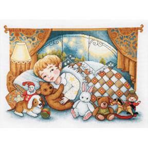 Набор для вышивки  крестом Чарівна Мить Спокойной ночи М-369