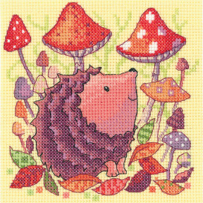 Набор для вышивания крестом Heritage Crafts Hedgehog H1329