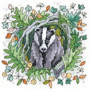 Набор для вышивания крестом Heritage Crafts Badger H1472