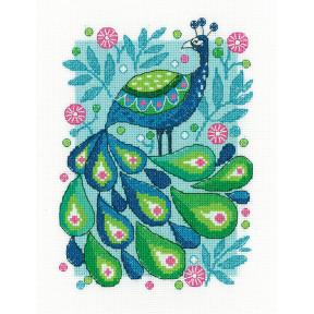 Набор для вышивания крестом Heritage Crafts Peacock H1504