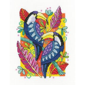 Набор для вышивания крестом Heritage Crafts Toucans H1503