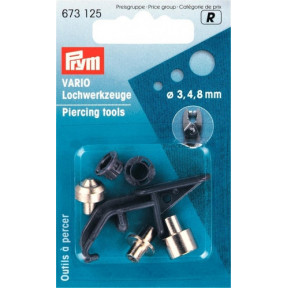 Насадки для пробивания отверстий VARIO для ткани, кожи, пленки и т.д. 3-4-8 мм 673125