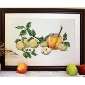 Набор для вышивания крестом Мережка Медовые яблоки К-02