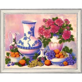 Набор для вышивания бисером Butterfly Розы и виноград 175