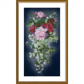 """Набор для вышивания крестом Нова Слобода  """"Цветочный каскад"""" СР-6235"""