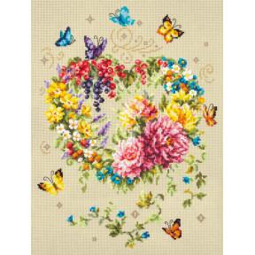 Набор для вышивки крестом Чудесная игла Нежность сердца 100-143