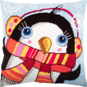 Набор для вышивки подушки Чарівниця Пингвин V-253 фото