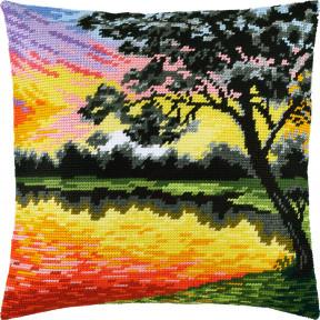 Набор для вышивки подушки Чарівниця Закат V-255 фото