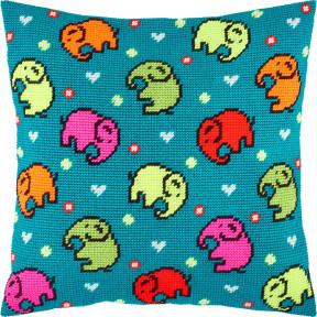 Набор для вышивки подушки Чарівниця Слоны V-256 фото