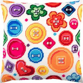 Набор для вышивки подушки Чарівниця Пуговицы V-259 фото