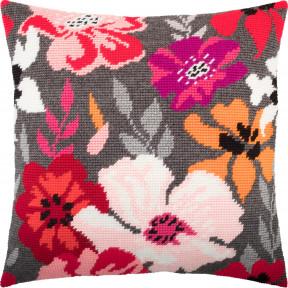 Набор для вышивки подушки Чарівниця Красные цветы V-260