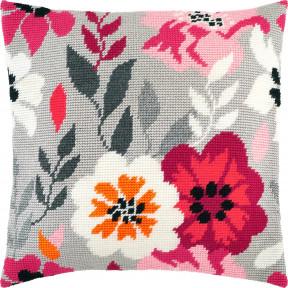 Набор для вышивки подушки Чарівниця Розовые цветы V-261