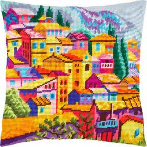 Набор для вышивки подушки Чарівниця Черногория V-264