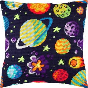 Набор для вышивки подушки Чарівниця Космос V-271