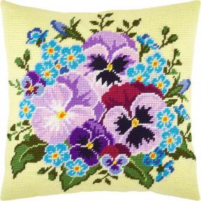 Набор для вышивки подушки Чарівниця Букет фиалок V-274