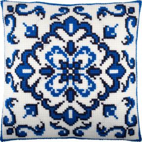 Набор для вышивки подушки Чарівниця Синий орнамент Z-74