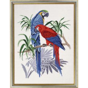 """Набор для вышивания Eva Rosenstand """"Синие Ары (Blue macaws)"""""""