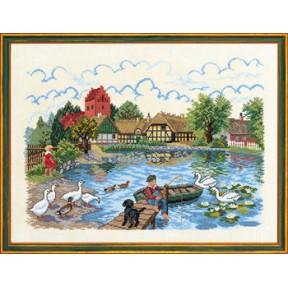 Набор для вышивания Eva Rosenstand Village pond 12-729 фото