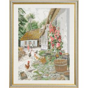 Набор для вышивания Eva Rosenstand Hollyhock 12-710 фото