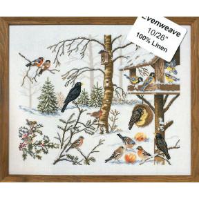 Набор для вышивания Eva Rosenstand Eating birds 12-651 фото