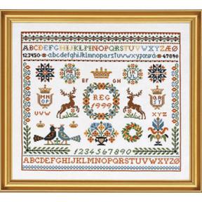 Набор для вышивания Eva Rosenstand Sampler 12-751 фото
