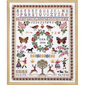 Набор для вышивания Eva Rosenstand Sampler 12-539 фото