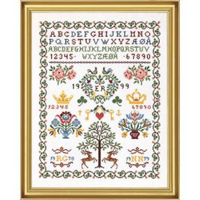 Набор для вышивания Eva Rosenstand Sampler 12-538 фото