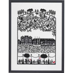 Набор для вышивания Eva Rosenstand Papercut Harbour 14-370 фото