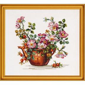 Набор для вышивания Eva Rosenstand Teapot with roses 12-278 фото